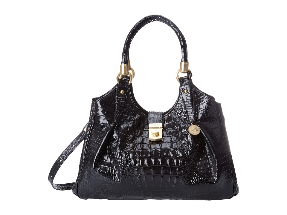 Brahmin - Elisa (Black) Satchel Handbags