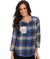 Lucky Brand - Plaid Tie Front Top