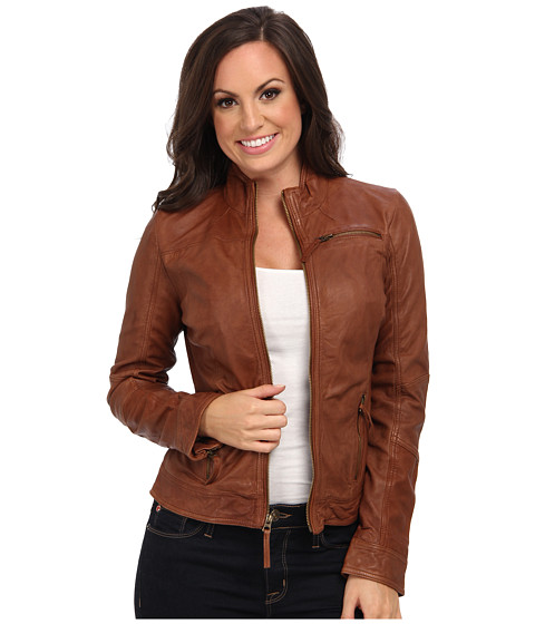 Lucky Brand - Downtown Madison Jacket (Cognac) - Apparel