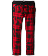 Hudson Kids - Plaid Leeloo Super Skinny in Scarlett (Little Kids)