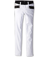 Hudson Kids - White Riot Two-Tone Skinny in White/Black (Big Kids)