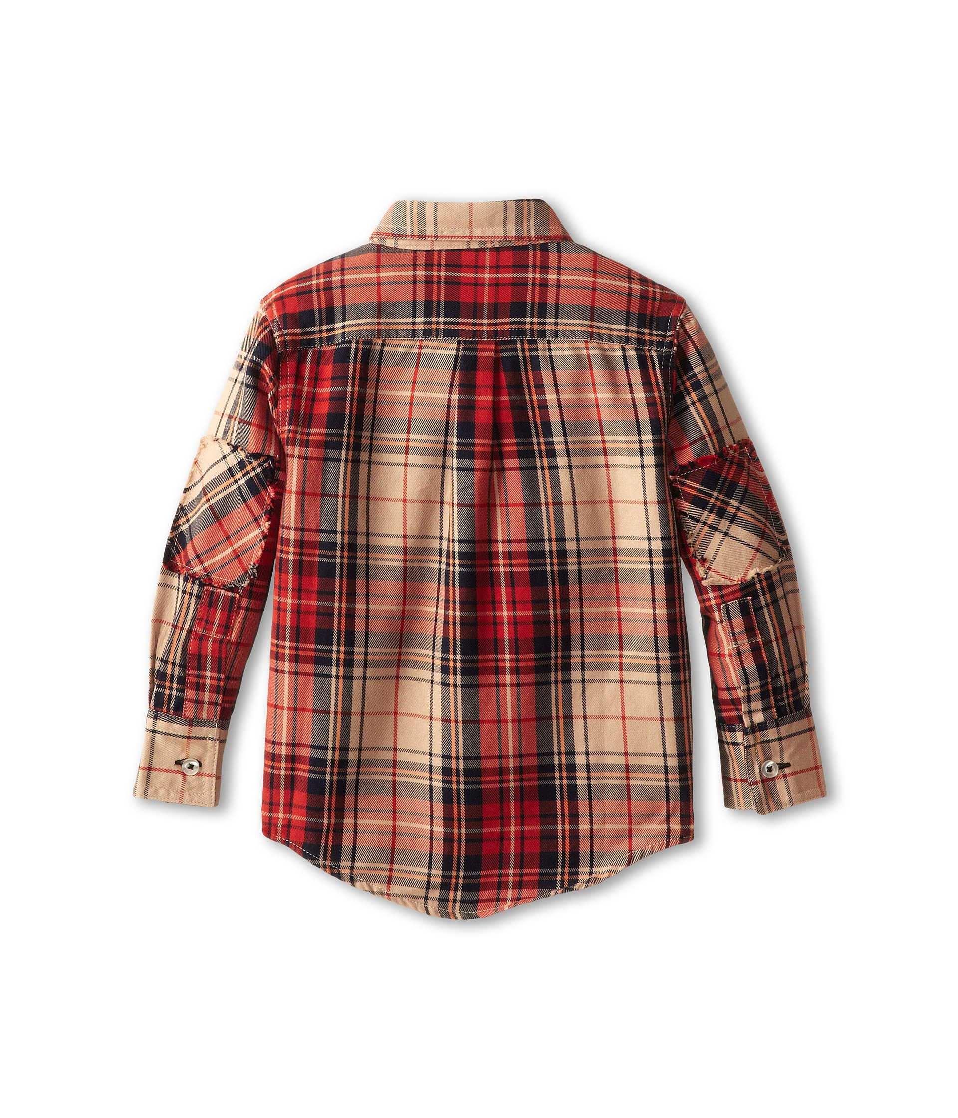 appaman kids super soft flannel shirt w elbow patches