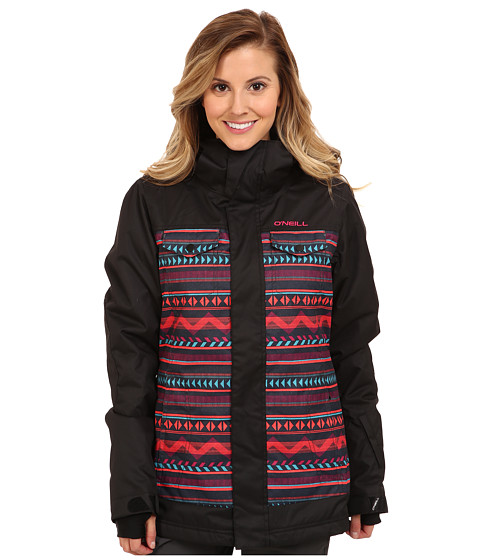 O'Neill Peridot Jacket (Black Allover Print) Women's Coat