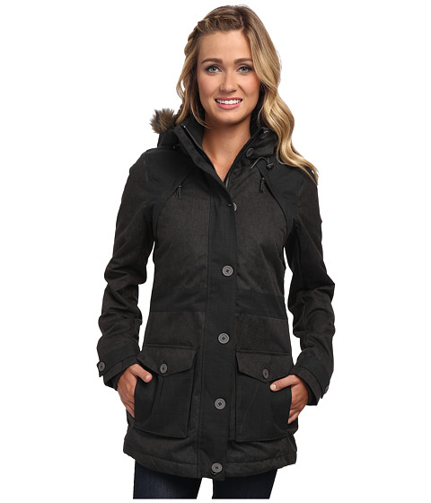 O'Neill Woods Parka (Pirate Black) Women's Coat