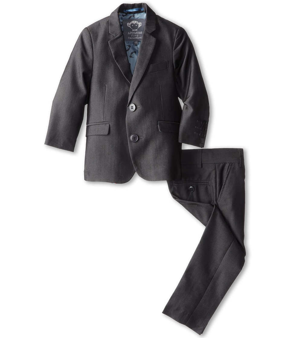 Appaman Kids - Two Piece Lined Classic Mod Suit (Toddler/Little Kids/Big Kids) (Vintage Black 1) Boys Suits Sets