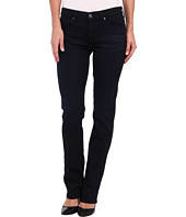 7 For All Mankind - Mid Rise Kimmie Straight in Lilah Blue Black