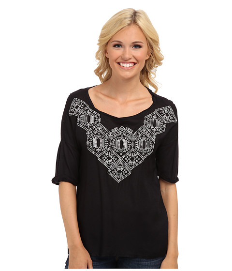 Lucky brand sydney embroidered top pm