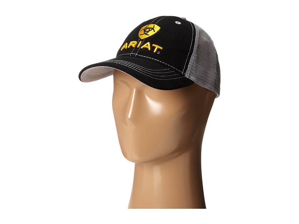 Ariat - Embroidered Logo Baseball Cap (Black) Traditional Hats