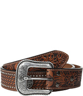 Ariat - Floral Tool Embossed Tab Concho Belt