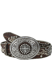 Ariat - Embroidered and Studded Belt w/ Large Oval Buckle
