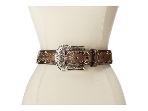 Ariat Patent Inlay Cross Concho Belt