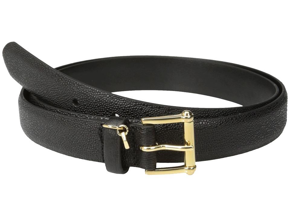 LAUREN Ralph Lauren 1 Faux Stingray Belt (Black) Women