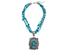 M&F Western Turquoise Bead Oval Concho Necklace/Earring Set