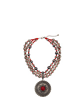 M&F Western - Metal Beaded Round Concho Necklace/Earring Set