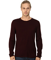 John Varvatos Star U.S.A. - Crew Neck Sweater w/ Leather Elbow Patches and Piping Y1093Q4L