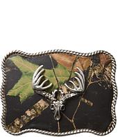 M&F Western - Deer Skull Mossy Oak Camo Rectangle Buckle