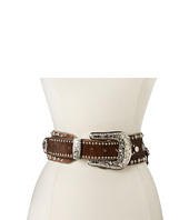 M&F Western - Wide Hair On Concho and Stud Belt