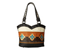 M&F Western Southwest Embroidered Boot Top Tote (Black/Tan)