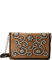 M&F Western - Floral Stitch Medium Flap Shoulder Bag