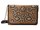M&F Western Floral Stitch Medium Flap Shoulder Bag
