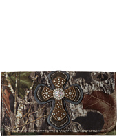 M&F Western - Cross Overlay Mossy Oak Wallet