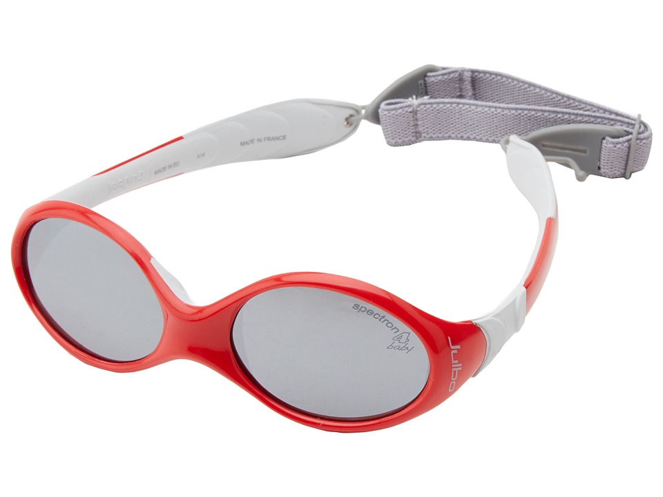 Julbo Eyewear Looping 1 Baby Sunglasses with Spectron 4 Baby Lenses 0 18 Months Red/Grey Fashion Sunglasses