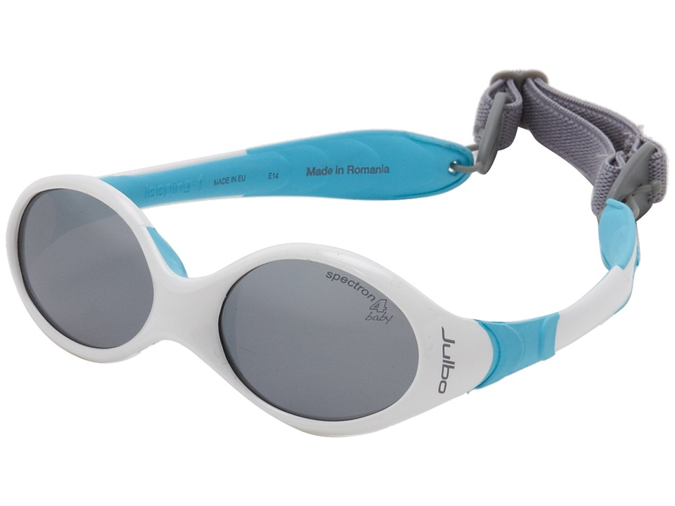 Julbo Eyewear Looping 1 Baby Sunglasses White/Blue w/ Spectron 4 Baby Lenses 0 18 Months White/Blue Fashion Sunglasses