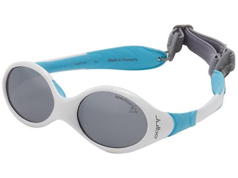 Julbo Eyewear Looping 1 Baby Sunglasses, White/Blue w/ Spectron 4 Baby Lenses (0-18 Months)