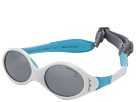 Looping 1 Baby Sunglasses, White/Blue w/ Spectron 4 Baby Lenses (0-18 Months)