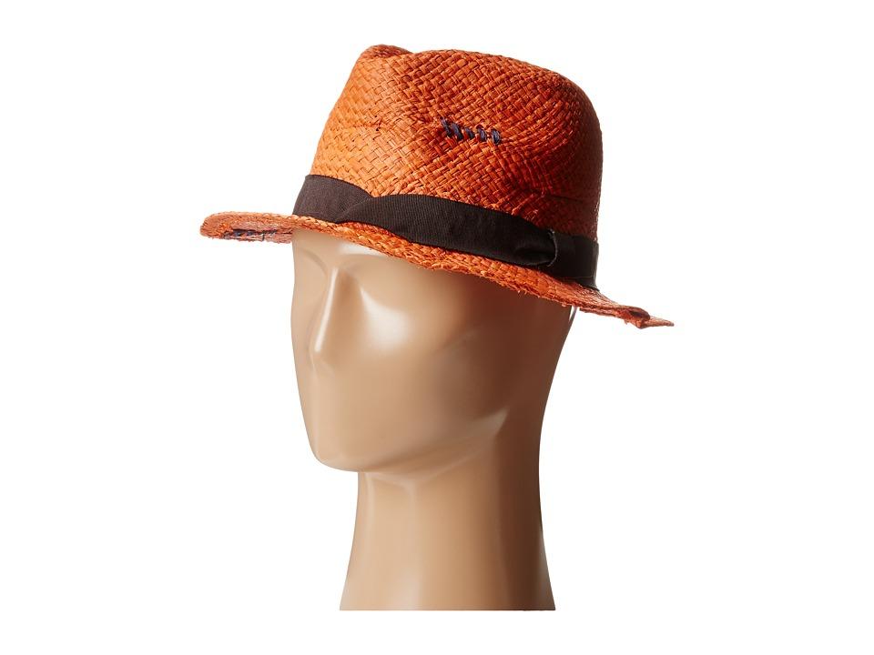 Grace Hats Clutch Hat Orange Fedora Hats