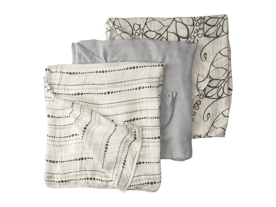 aden anais Silky Soft Swaddle 3 Pack Moonlight Sheets Bedding