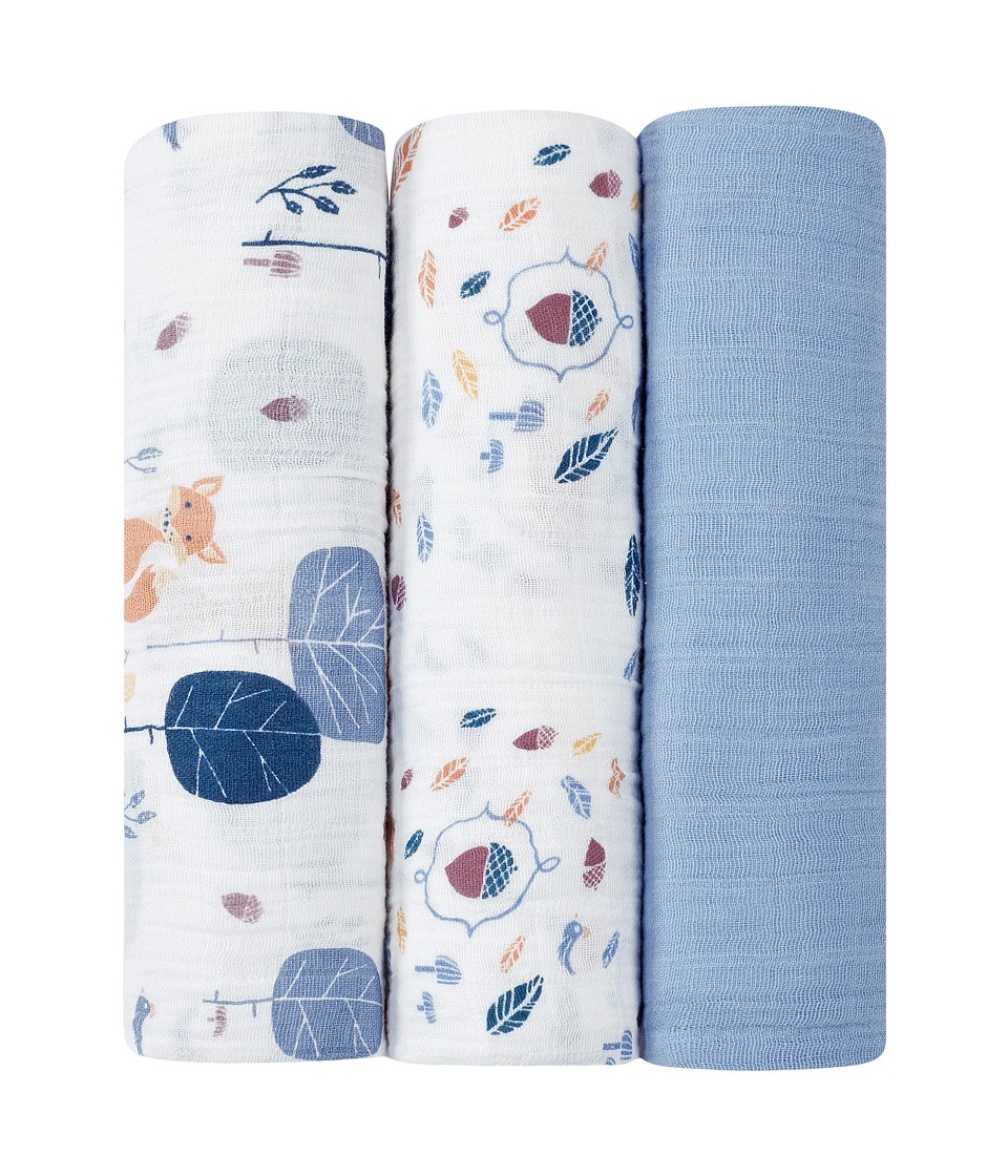 aden anais Organic Swaddle 3 Pack Into the Woods Sheets Bedding