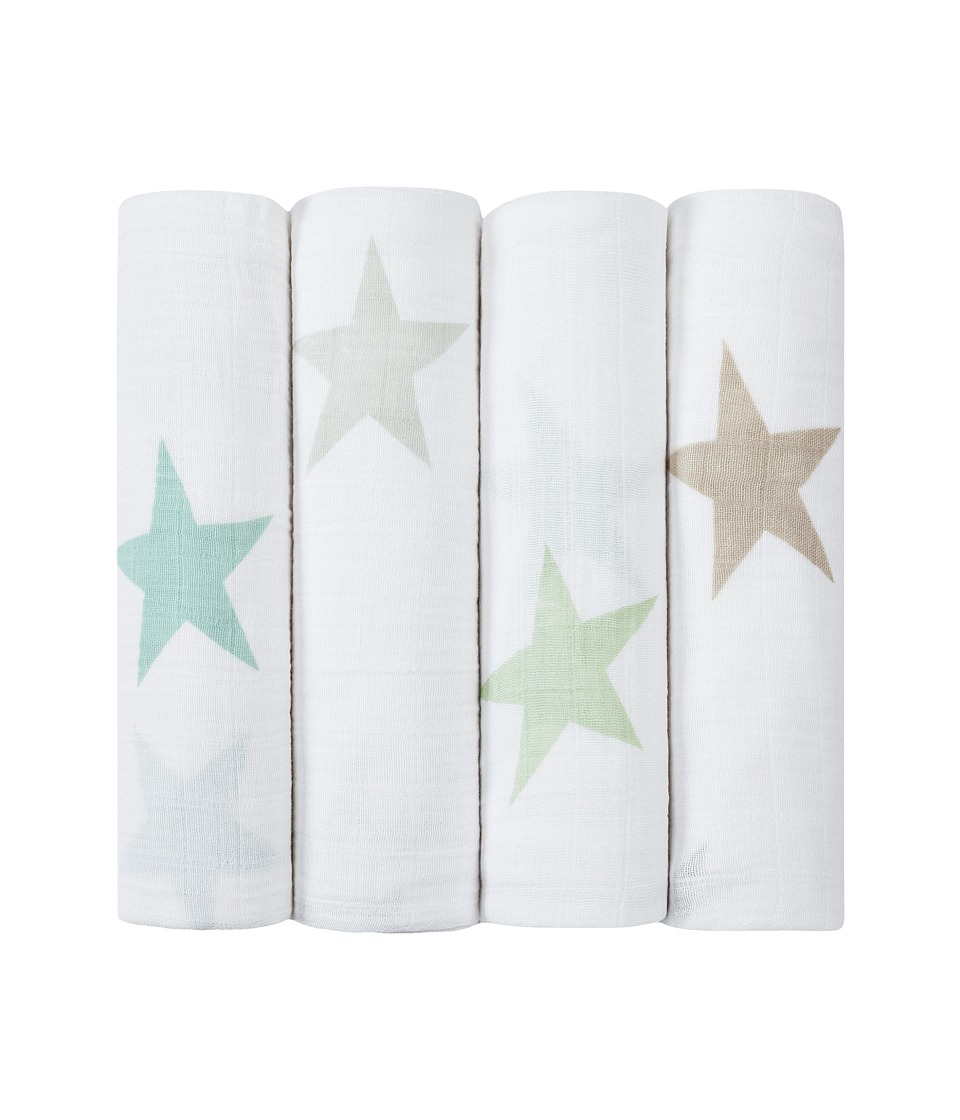 aden anais Classic Swaddling 4 Pack Super Star Scout Sheets Bedding