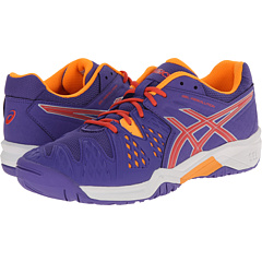 Image of ASICS Kids - Gel-Resolution 6 GS (Little Kid/Big Kid) (Lavender/Hot Coral/Nectarine) Girls Shoes