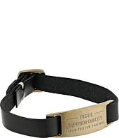 Fossil - Leather ID Plaque Bracelet