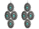 M&F Western Oval Turquoise Concho Chandelier Earrings