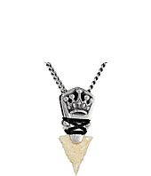 King Baby Studio - Crown Arrowhead Pendant Necklace w/ Ivory Point