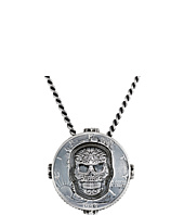 King Baby Studio - Liberty Half Dollar Pendant Necklace w/ Carved Baroque Skull