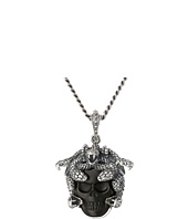 King Baby Studio - Small Medusa Pendant Necklace w/ Carved Jet Skull