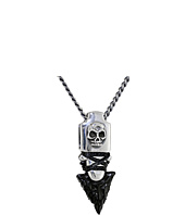 King Baby Studio - Skull Arrowhead Pendant Necklace w/ Jet Point