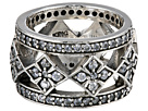 King Baby Studio - Wide Band Ring w/ MB Cross and CZ