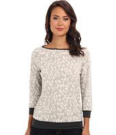 Three Dots - 3/4 Sleeve Boat Neck Sweatshirt