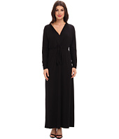 Three Dots - V-Neck Maxi Dress w/ Tie Detail