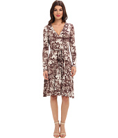 Three Dots - L/S Wrap Dress w/ Sash