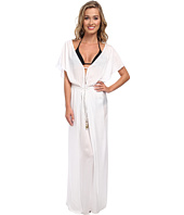 Vix - Solid White Agatha Long Dress Cover-Up