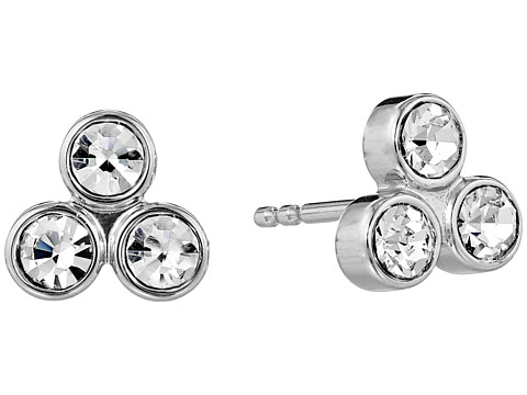 Fossil Three Stone Stud Earring - Silver