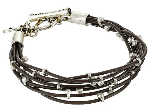 Lucky Brand Silver Leather Bracelet - Silver