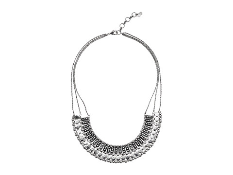 Lucky Brand Textured Metal Necklace - Silver