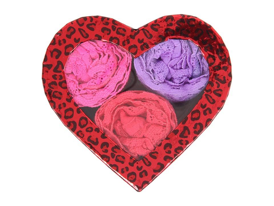 Hanky Panky 3 Original Rise Thongs in Heart-Shaped Box (Hugs N Kisses) Women's Underwear