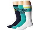 Nike Dri-FIT Crew Sock 3-Pair Pack (White/Light Retro/Midnight Navy/Light Retro)